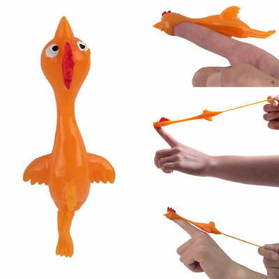Flick a Chicken Stretching Rubber Catapult Toys Kids Christmas Stocking Fillers