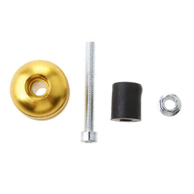 Gold+Black Handle Bar Ends Grips Vibration Reducing Caps for Yamaha