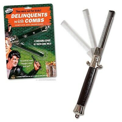 Switchblade Comb - Punk Rockabilly Novelty Gift Hair