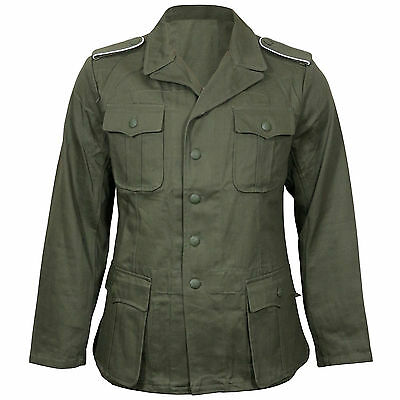 GERMAN ARMY DAK AFRICA KORPS TUNIC Olive Green - WW2 Repro All Sizes Shirt New