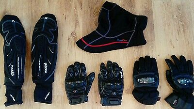 Previous Owned MTB Bike Cycle Elbow Guard/Gloves/Face - XL Joblot.