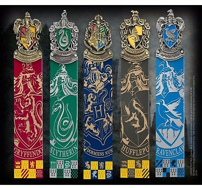 Harry Potter Hogwarts House Crest Bookmarks Official Noble New UK Licensed