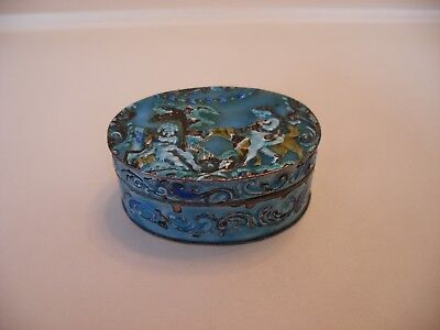 antique silver and enamel snuff box 1891