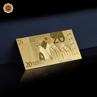WR 24K Gold €20 Euro Banknote Gold Foil World Paper Money Collectible Gifts Man