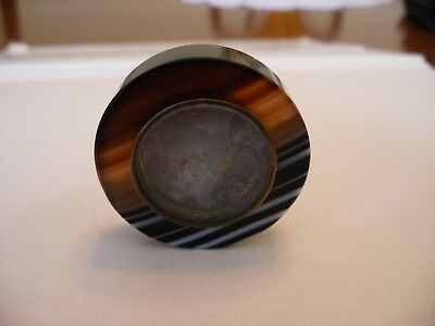 19 th century banded agate patch box