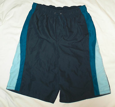 New Boys Size XL / 18 - 20 Blue Swimming Swim Trunks Shorts Swim Suit