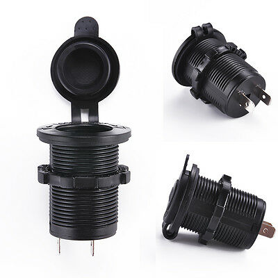 12V Car Boat Motorcycle Cigarette Lighter Socket Power Plug Outlet Waterproof