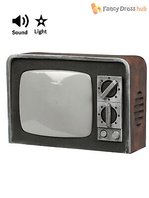 Vintage Haunted TV Television Poltergeist Prop Halloween  Party Decoration Sound