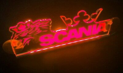 24V LED Interior Cabin Light for SCANIA Plate with Eagle and Crown Sign (RED)