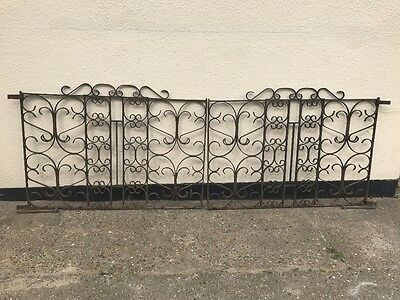 Victorian Wrought Iron Gates - Perfect Restoration Project