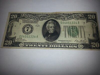 $20 bill series 1928--from bank of chicago illinois---good condition