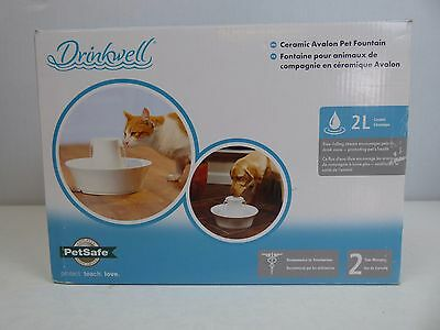 Drinkwell Ceramic Avalon Cat and Small Dog Water Fountain **USED**