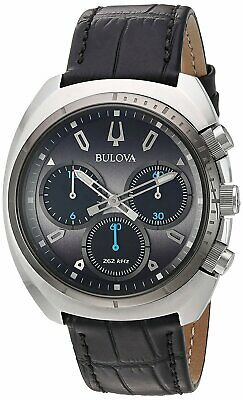 Bulova Leather Chronograph Mens Watch 98A155