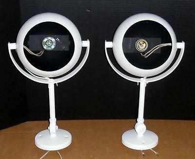 Vtg Kurt Versen Mid Century Modern Eyeball Wall Sconces Ceiling Lights Pair