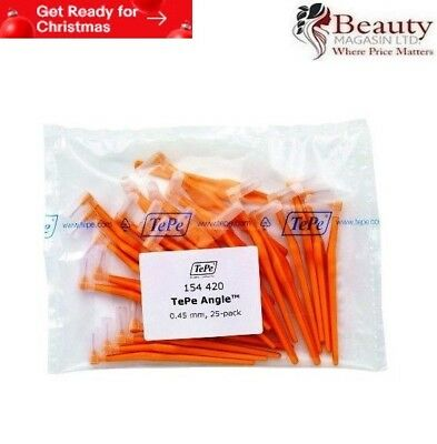 TePe Angle Orange 0.45mm Interdental Brush - Pack of 25 Brushes