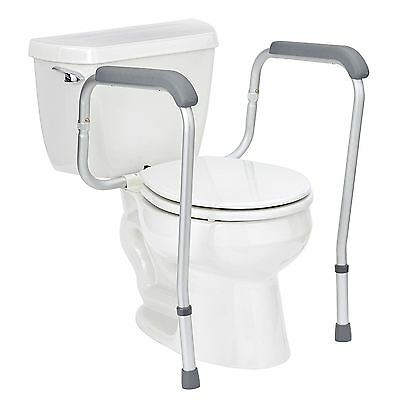 New Adjustable Toilet Surround Safety Frame Mobility Supports Safety Rail