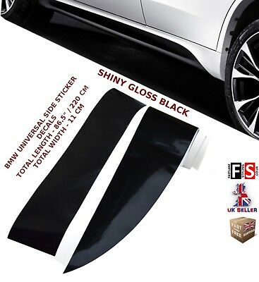 Bmw 1 Series E81/82/87/88 Performance Side Sticker Skirt Decal Vinyl Gloss Black
