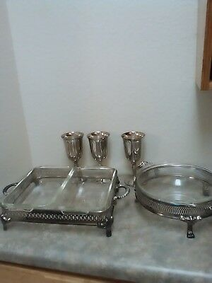 International Silver Warming Dish lot