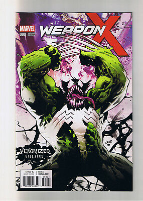 WEAPON X #8 - NEW / NM 1st Print Venomized variant - Marvel Comics