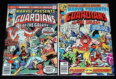 MARVEL PRESENTS #5 #7 Guardians Of The Galaxy Marvel Bronze Age Comic 2pc Lot