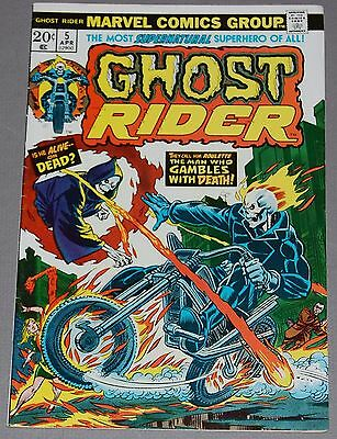 GHOST RIDER #5 Marvel Bronze Age Comic HIGH GRADE VF+