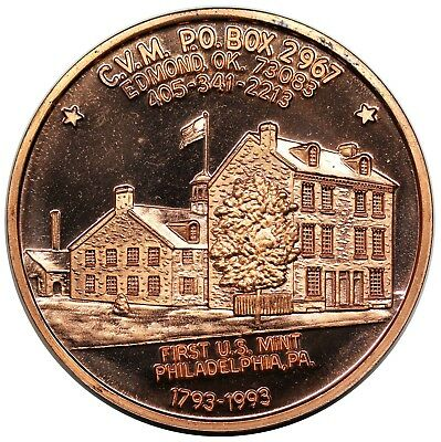 1993 CVM medal, 200th Anniversary of the Cent, First Reverse, copper, BU