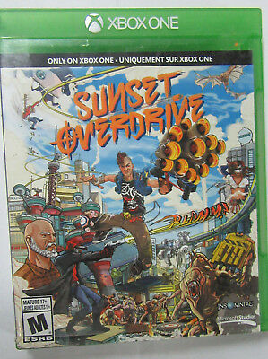 Sunset Overdrive Microsoft Xbox One FUN Fast Free Shipping in Canada no mario