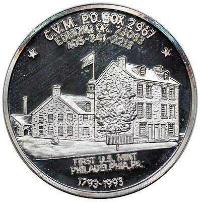 1993 CVM medal, 200th Anniversary of the Cent, 1st Reverse, 1 oz. 999 Silver, BU