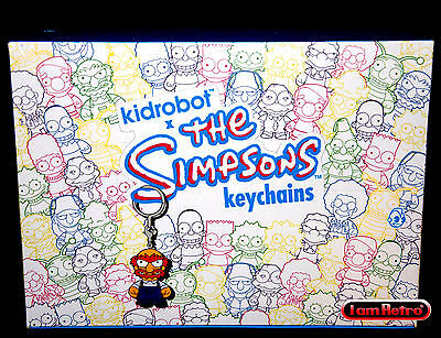 Simpsons Keychains Series 2 - Kidrobot - New Factory Sealed Display Case 20 pcs