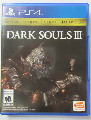 Dark Souls III: Day One Edition (Sony PlayStation 4, 2016 fast shipping no mario
