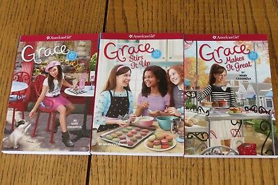 American Girl Doll Grace 3 Book Books Lot~#1~2~3~Brand New! Free Ship