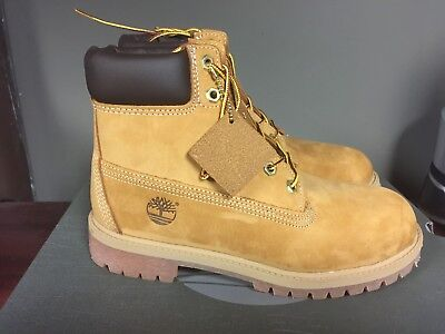 Kid's Timberland 6 Inch Premium Waterproof Boot Wheat Nubuck 12909 (2017)