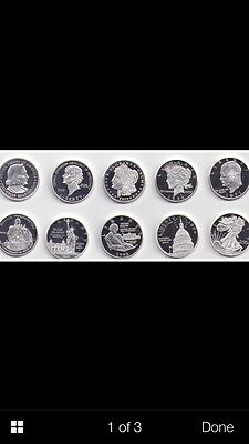 2004 History of the Silver Dollars 10 Coin Proof Set - Northern Mariana Islands