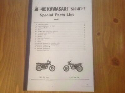 Kawasaki 500 H1 D/E, Parts List