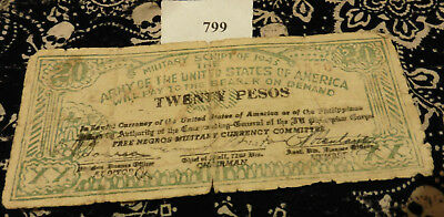 Military Script of 1943 Army Of The United States Of America Twenty Pesos