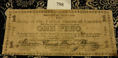 Military Script of 1943 Army Of The United States Of America One Peso