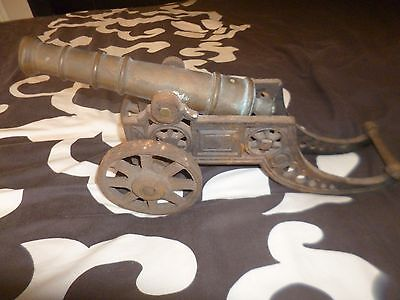 Large Cast Iron & Brass Napoleonic Military Model Cannon