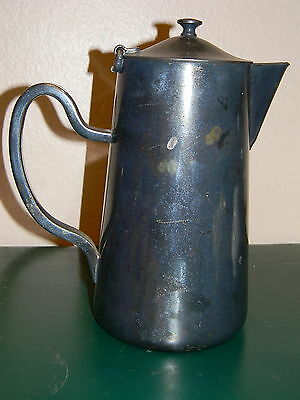 Vintage Dw Haber & Son Ny Silverplated Water Pitcher
