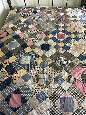Antique Handmade Crazy Patchwork Quilt