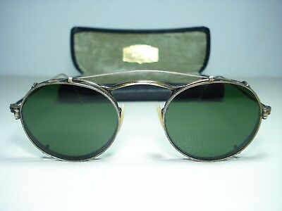 Vintage 1980's Oliver Peoples M4 Sunglasses 44mm 1st Generation Clip Ons Rare