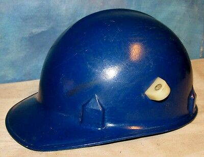 Vintage JACKSON SC 20 Blue Welder Hard Hat Hardhat Miner Iron Worker Safety J236