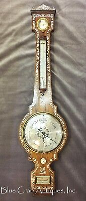 Ca 1840 Whitmore & Son Northampton England WHEEL BAROMETER Mother of Pearl Inlay