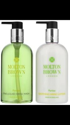 Molton Brown Puritas Hand Wash And Soothing Hand Lotion Gift Set 300ml NEW