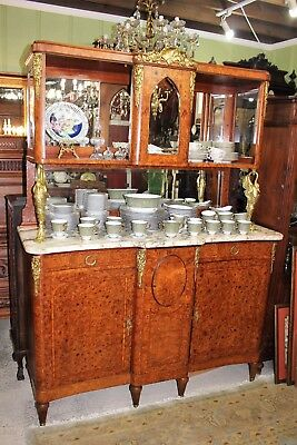 Exquisite French Antique Purl Walnut Louis XVI Buffet / Sideboard.