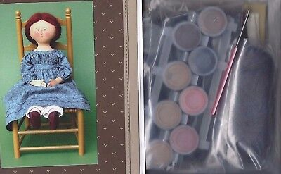 "12""vintage Cloth/painted 3-Dimensional Doll Pattern&fabric Kit/gail Wilson@2000"