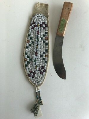 Native American Knife and Sheath, N. Plains, c.1900