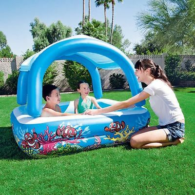 NEW Bestway H2OGO Family Pool with Sun Shade for Fun