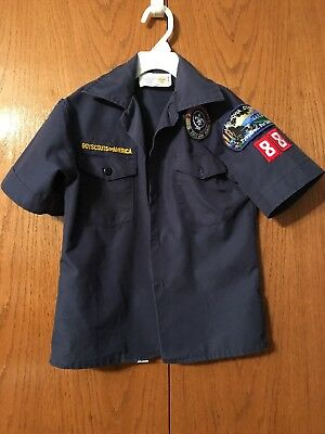 Cub Scouts Uniform Shirt Blue Youth Size Small BSA- Tiger