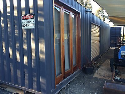 container transportable home office workshop storage sleep out