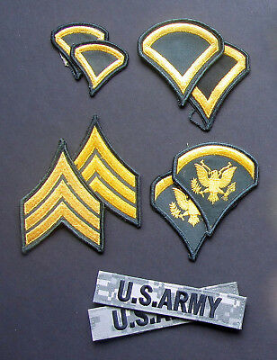 Lot Of 10 Asstd (5 Pairs)- All Different- Ww2?- Present- U.s. Army Patches- #1-1